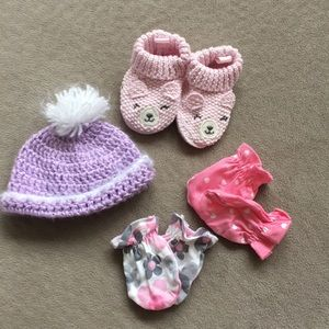 Other - NB hat, booties, and mittens.